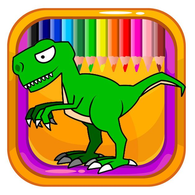 NEW IOS APP Kids Coloring Book Games Draw Dinosaur Version