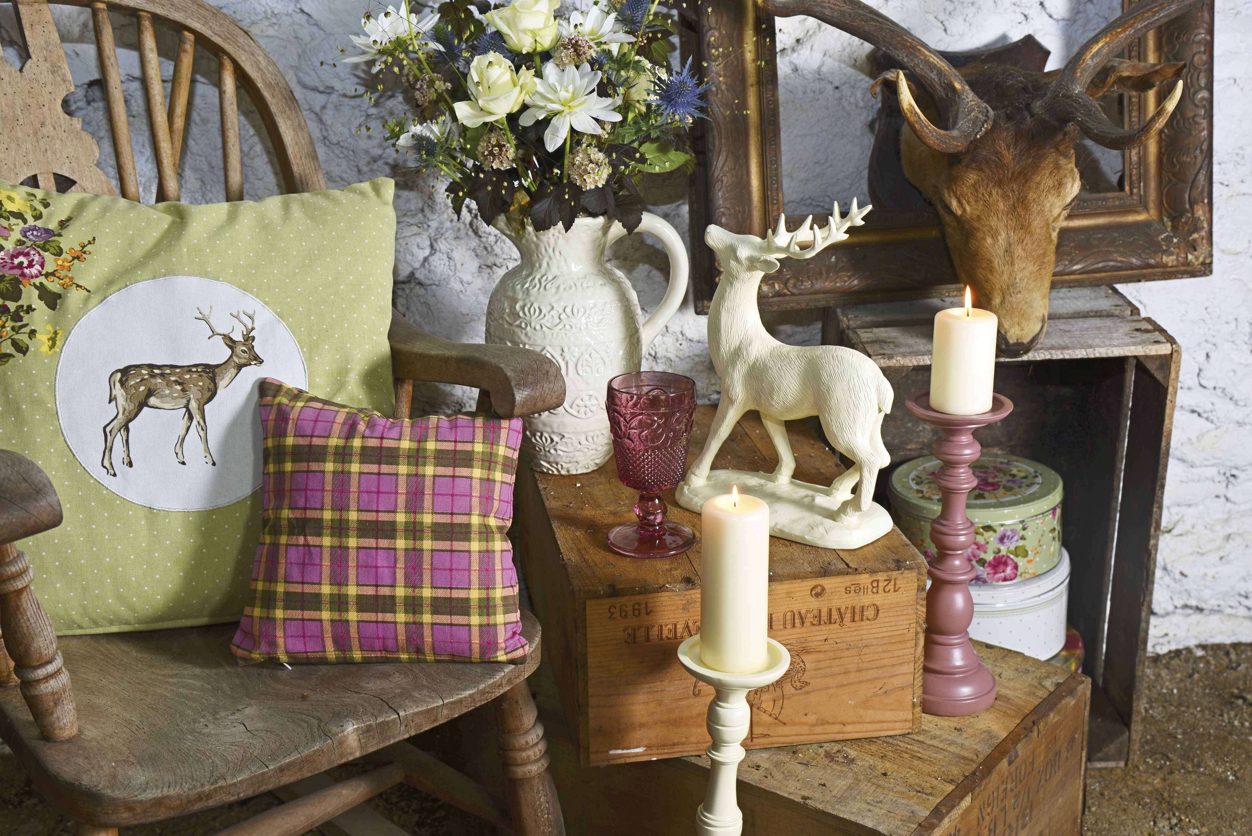 Make your home winter ready with cosy accessories from the Katie Alice Highland Fling Stag Collection