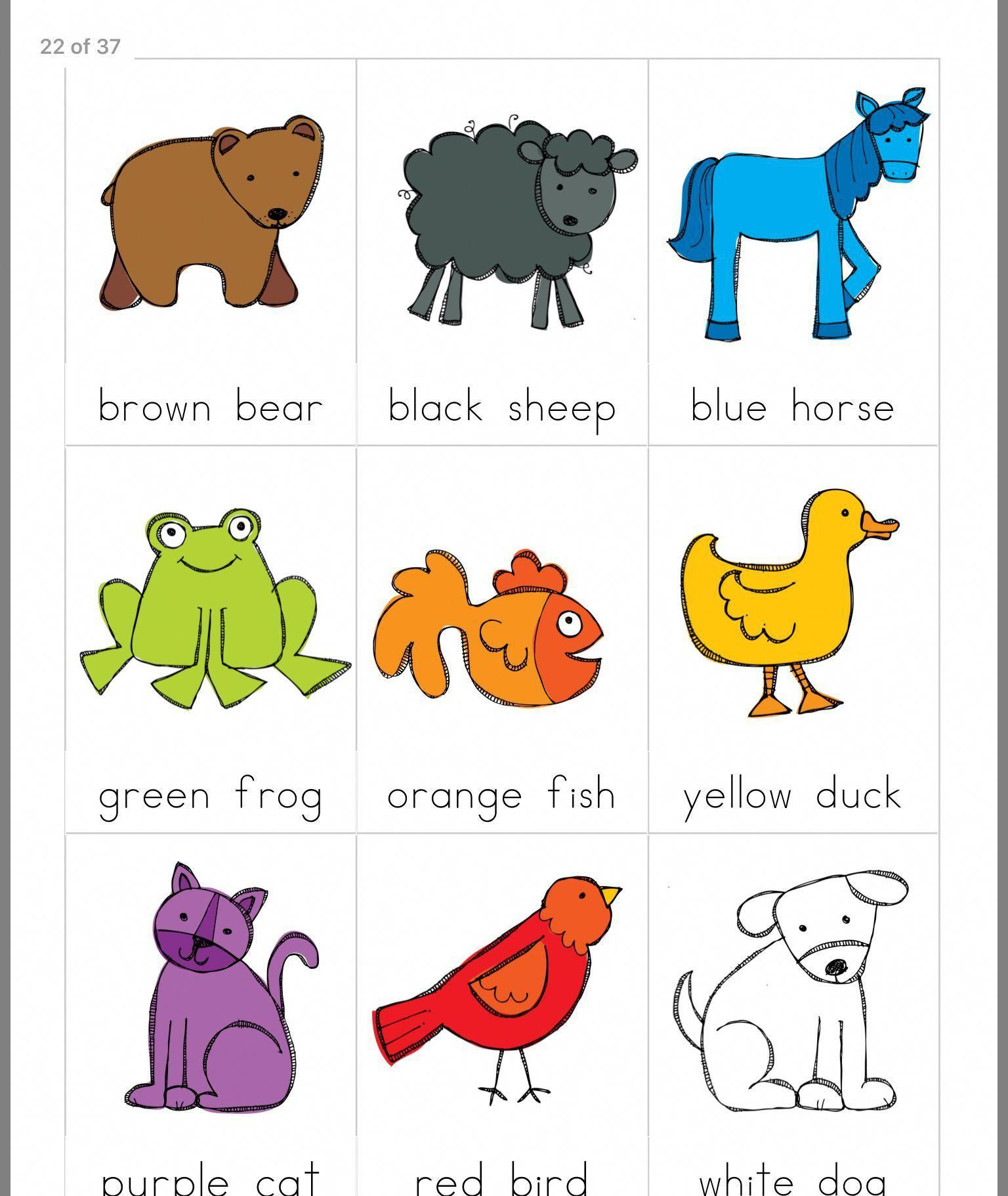 Yoga For Preschool Age Brown Bear Printables Preschool Colors Preschool Books [ 1822 x 1536 Pixel ]