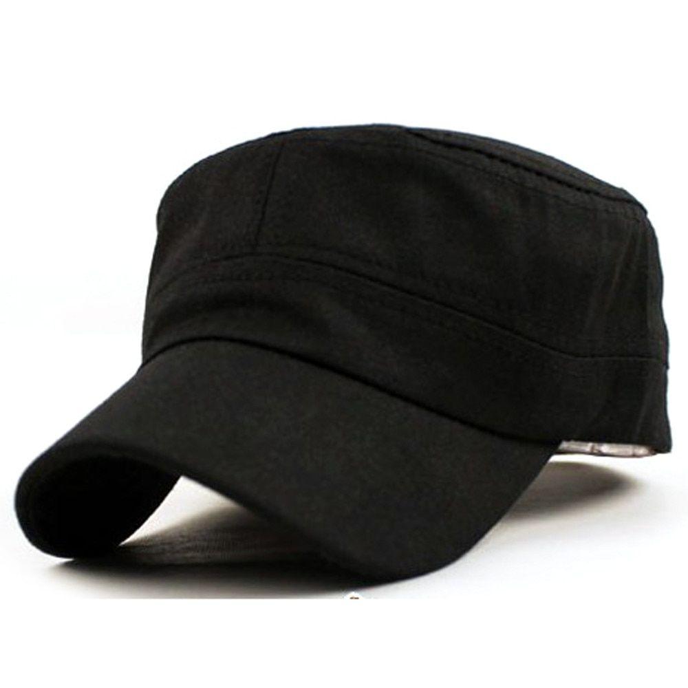 9beb200f Hot Sale Unisex Classic Plain Cap Vintage Army Hat Cadet Military Patrol Cap  Adjustable Best Cadet Classic Style Hat