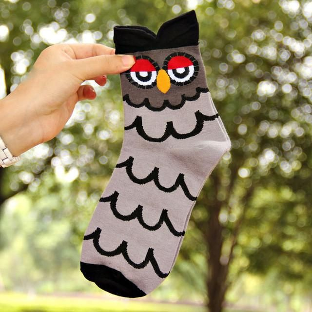 1pair Cartoon Funny Owl Compression Socks Products In 2019 Owl
