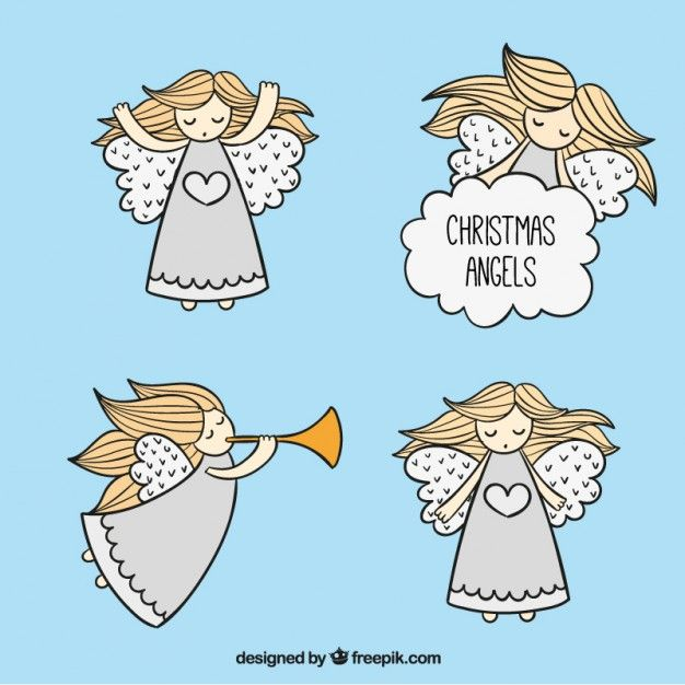 Download Sketchy Christmas Angels For Free Angel Vector Christmas Graphics Christmas Angels