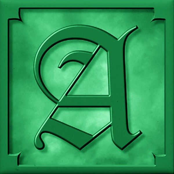 Buchstabe Letter A Old English Alphabet Old English 01