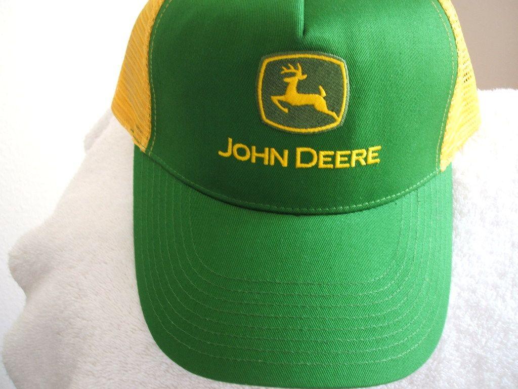 03f978bf9dee2 Selling on vFLea.com - John Deere new green yellow mesh ball cap w tags- 17  +  5 s h