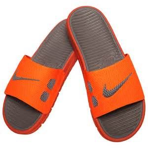 mens orange nike slides