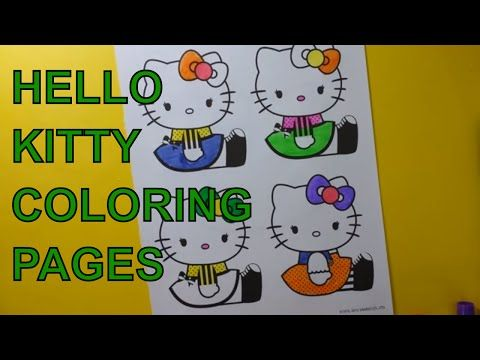 Videos Youtube Hello Kitty Colouring Pages Hello Kitty Coloring Coloring Books