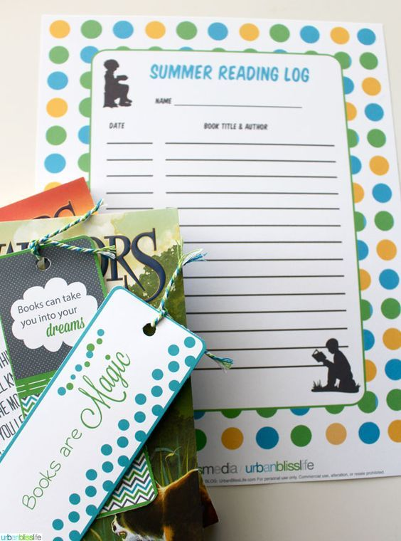 Printable Summer Reading Log | Guest post on TodaysCreativeLife.com |Urban Bliss Life Summer Reading Log 2014