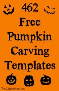 462 Free Pumpkin Carving Templates For Halloween #pumpkincarvingstencils