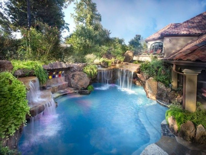 Luxus Pool Vorschlag Fur Einen Luxus Pool Swimming Pools Backyard Backyard Pool Pool Photos