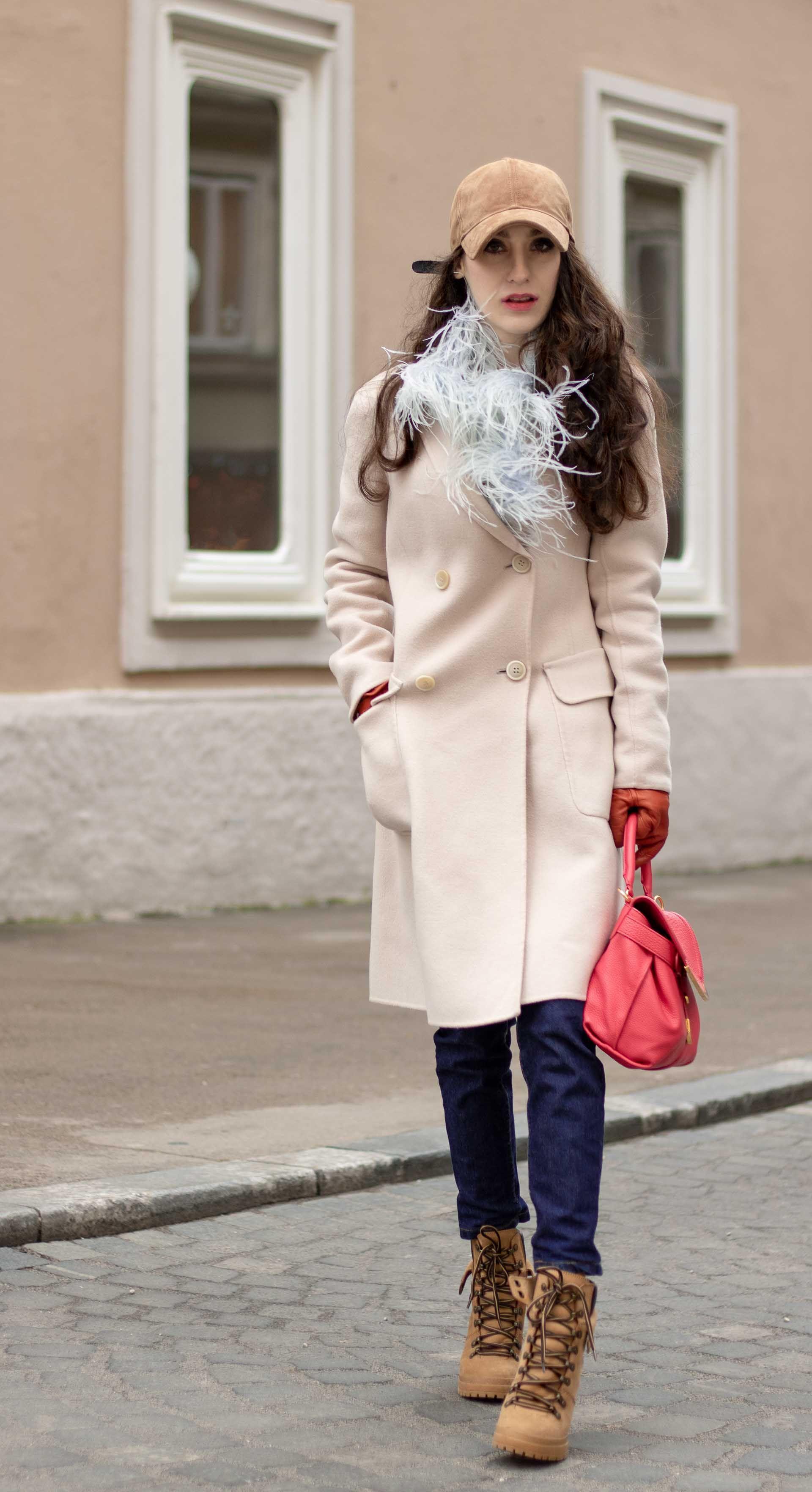 fefde5a925c Must follow fashion blogger Veronika Lipar of Brunette from Wall Street  dressed in brown Rag   Bone baseball cap