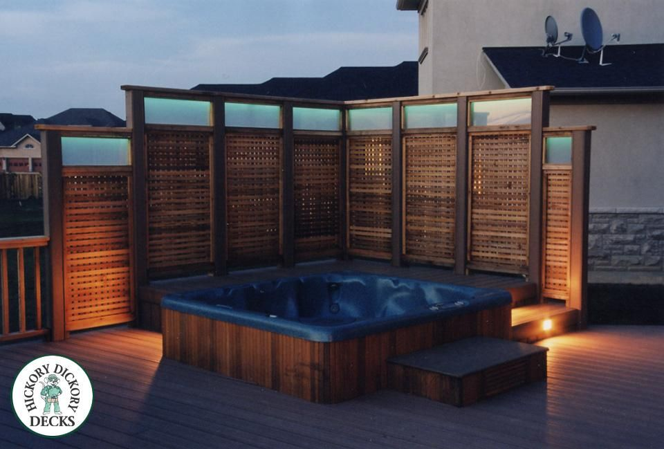 Privacy Screens With Images Hot Tub Landscaping Patio