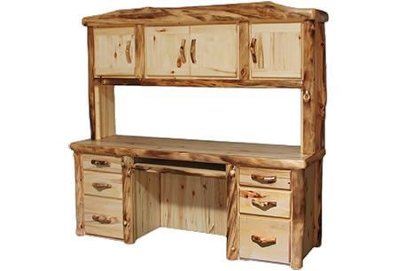 Desk and Hutch in Flat Front (72″W)