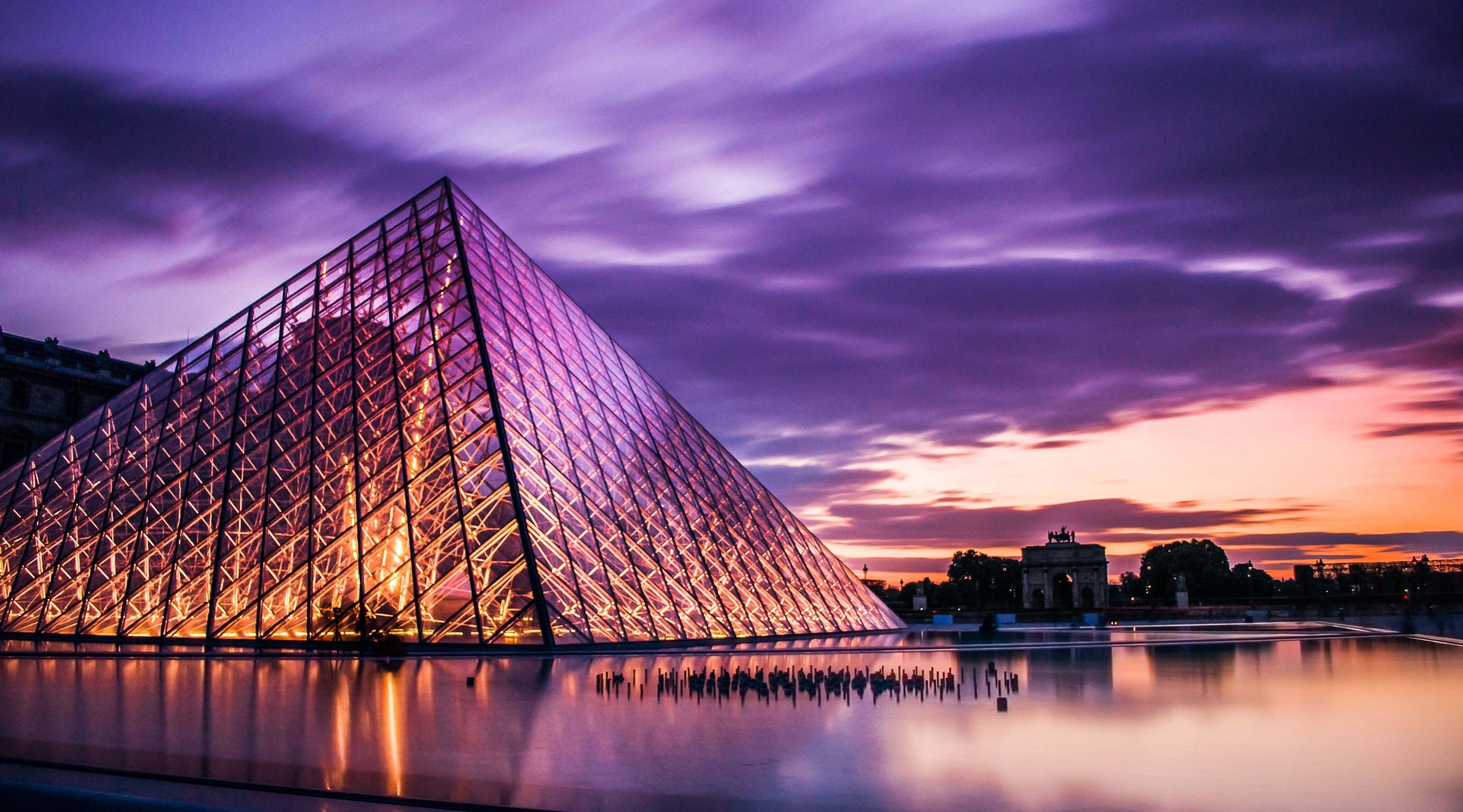 3840x2133 Louvre 4k Hd Wallpaper For Desktop Paris France Travel France Travel City Travel