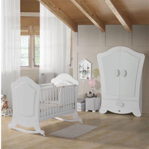 Habitación de Bebé Micuna Ambiente alexa blanco. Muebles y ...