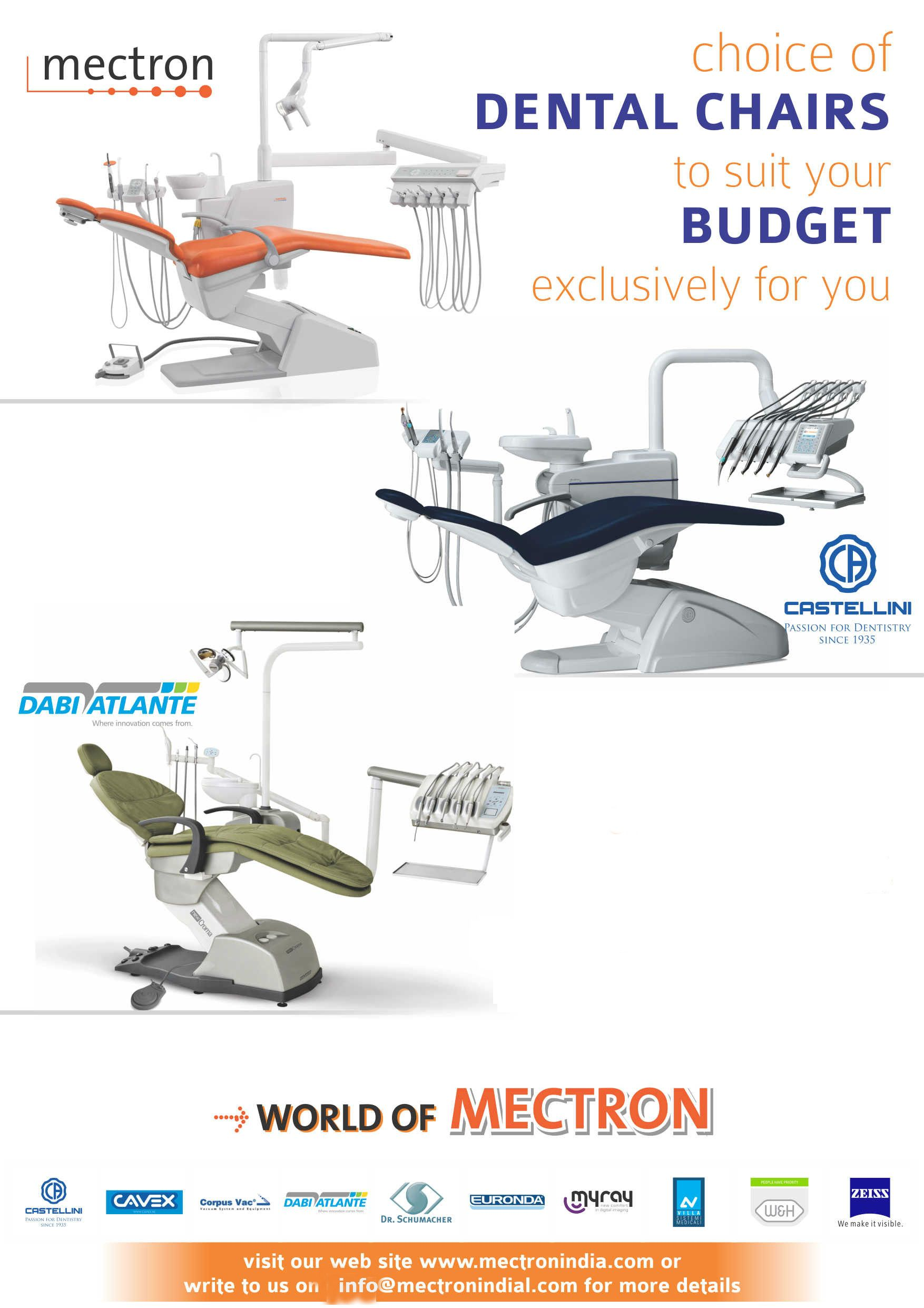 Choice of Dental Chairs to suit your BUDGET exclusive for you