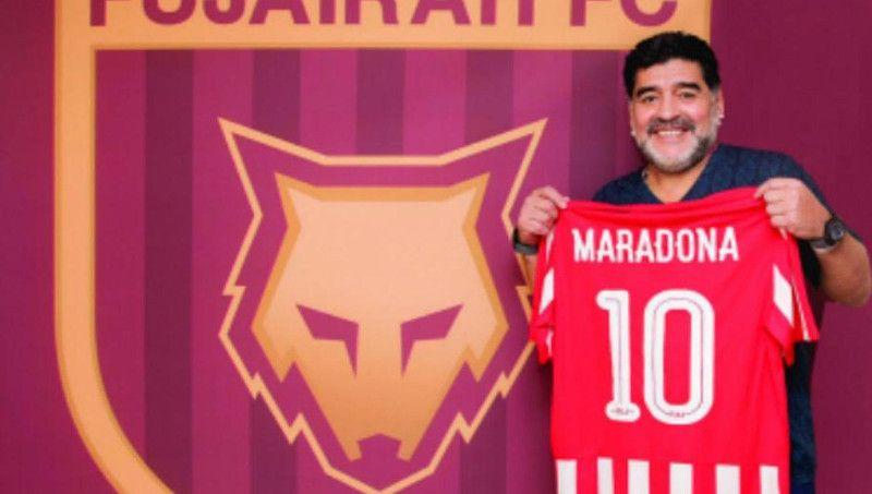 Maradona fue presentado como DT de Al Fujairah de Emiratos Arabes: El crack argentino volverá a dirigir después de cinco años.