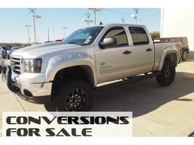 Used 2013 Gmc Sierra 1500 Sle Crew Cab Black Widow Lifted Truck