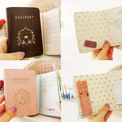 Travel Simple Passport ID Credit Card Cover Holder Case Protector PVC Skin B24U