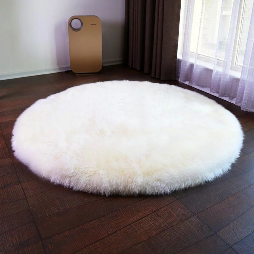 Buy Fluffy White Round Rugs For Living Room Rugs In Living Room