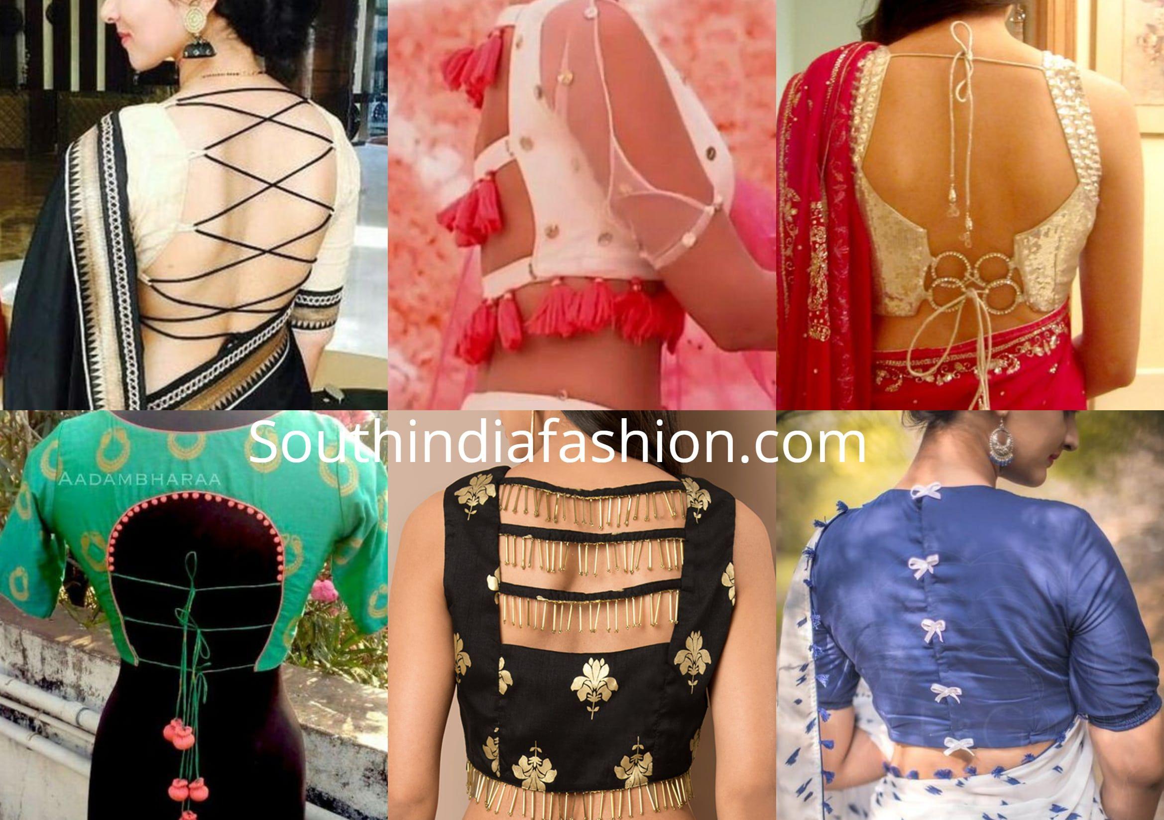 10 Unique Saree Blouse Back Neck Designs Blouse Designs Back Side Blouse Back Neck Designs Blouse Design Images Blouse Neck Designs