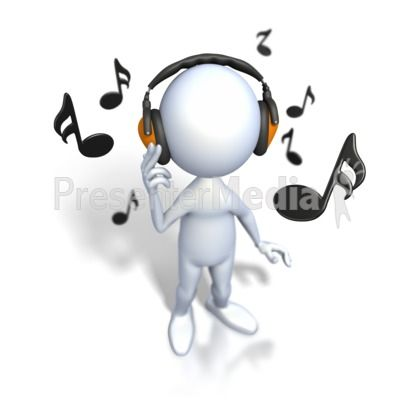 stick figure listening to music powerpoint clip art stick figures