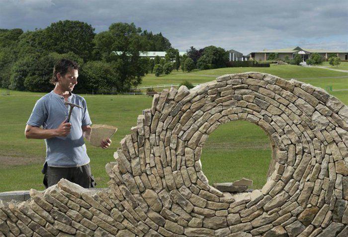 Trockenmauer wird zu Kunstwerk Gartenmauer Pinterest Gärten - steine fur gartenmauer