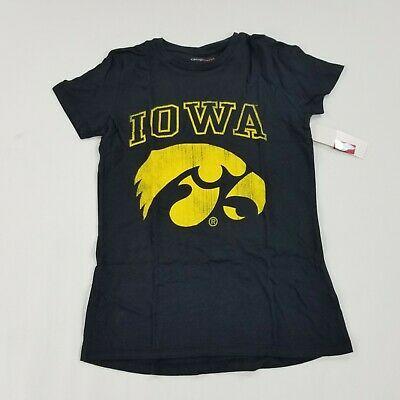 Iowa Hawkeyes Womens TShirt Black Small Camp David Short Sleeve Crewneck ebay link