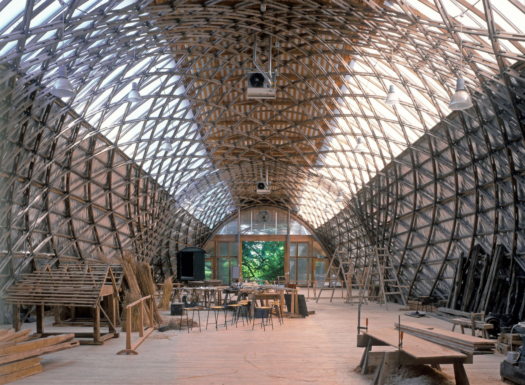 Nick Kane photography architecture Gridshell, Weald and