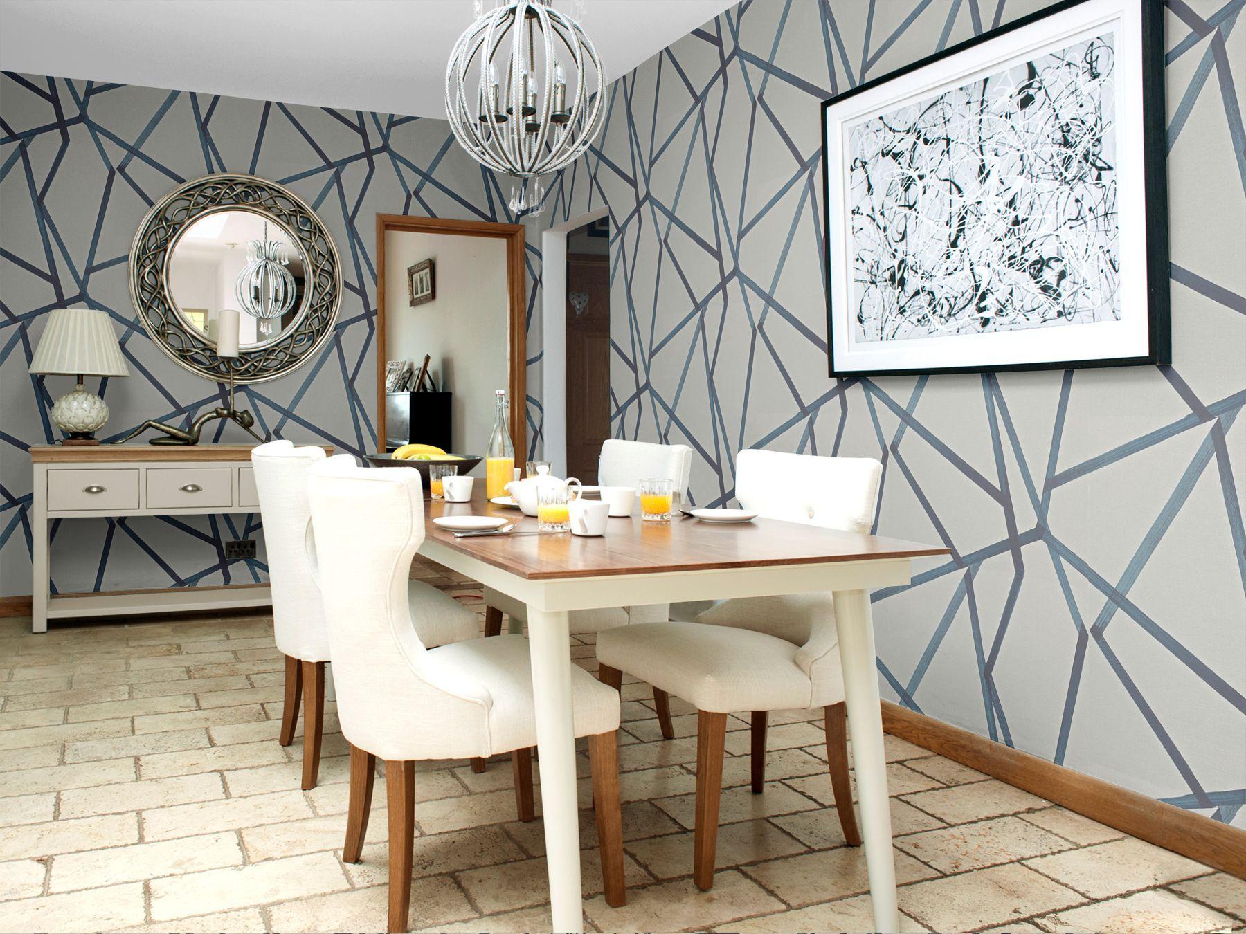 Image result for harlequin sumi Beige dining room