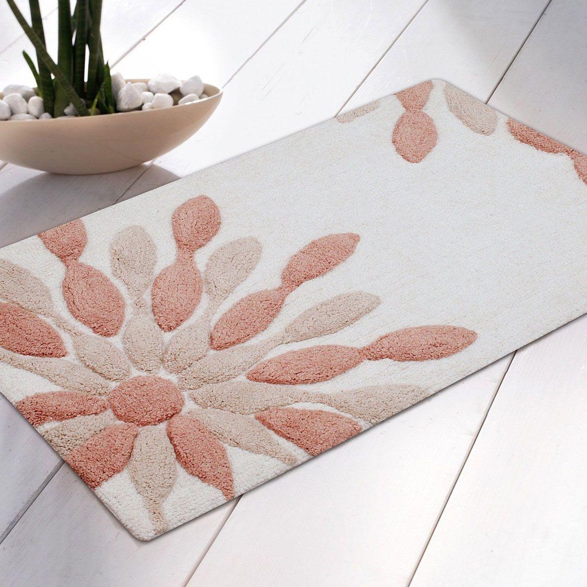 Peach Colored Bathroom Rugs Bathroom Ideas Pinterest Peach - Orange bath mat set for bathroom decorating ideas