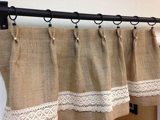 resultado de imagen para cortinas en arpilleras