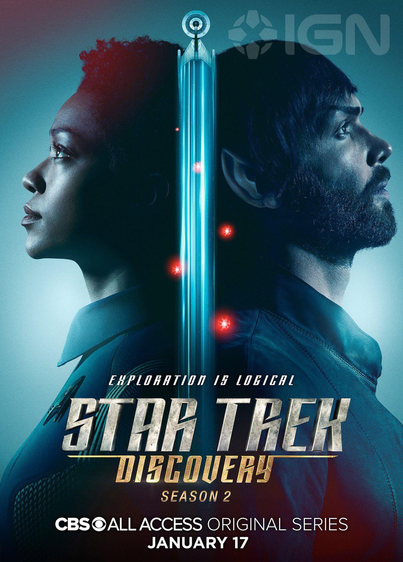 Star Trek Discovery Season 2 Posters Spotlight Spock And Captain Pike Ign Star Trek Tv Star Trek Star Trek Characters