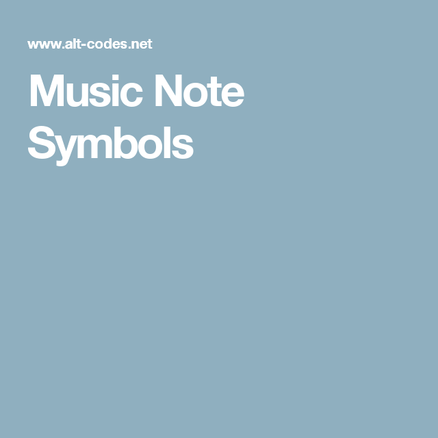 Music Note Symbols Learn Music Pinterest Music Note Symbol And