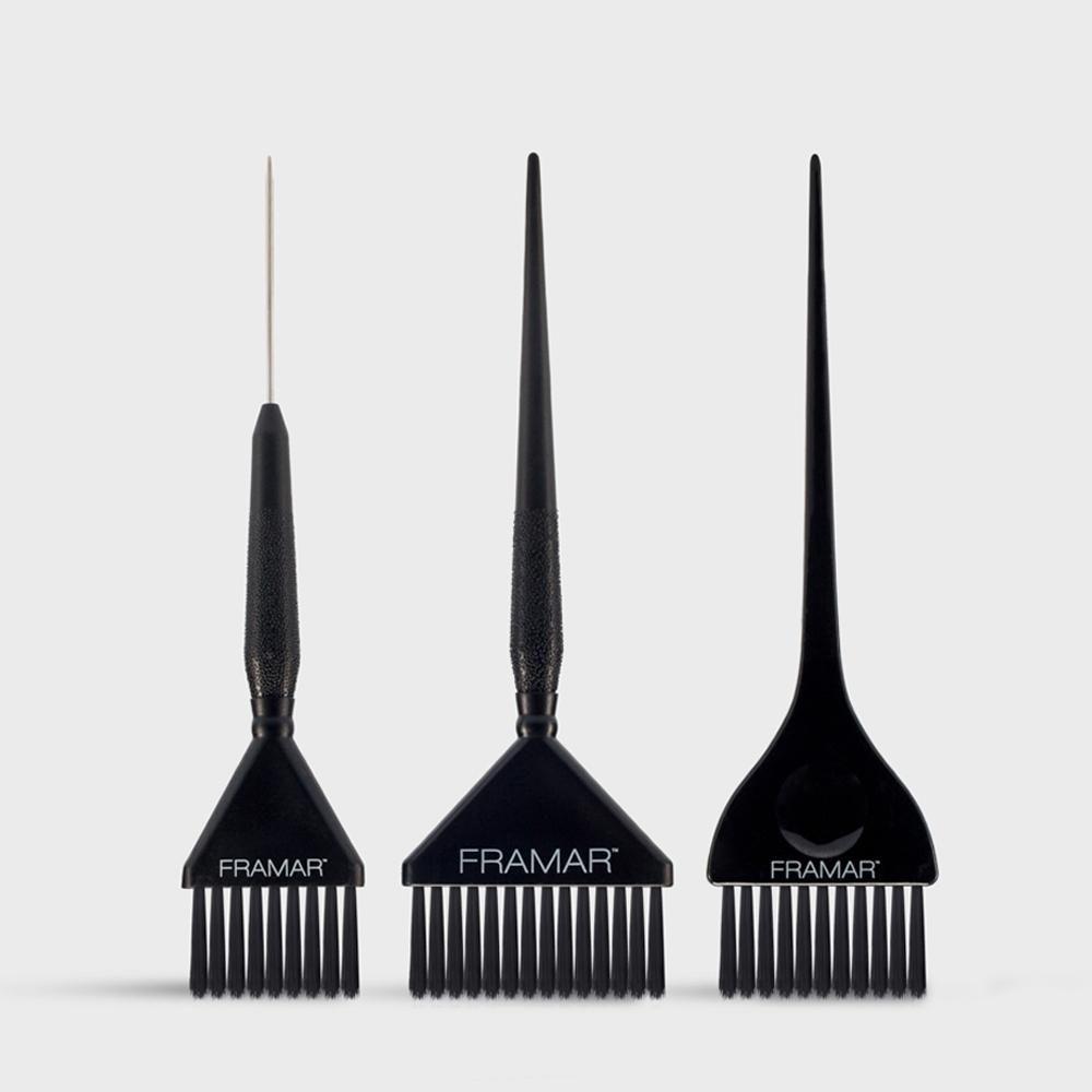 Family Pack Brush Set Black 3 Pack In 2020 Hair Color Brush Brush Set Hair Supplies