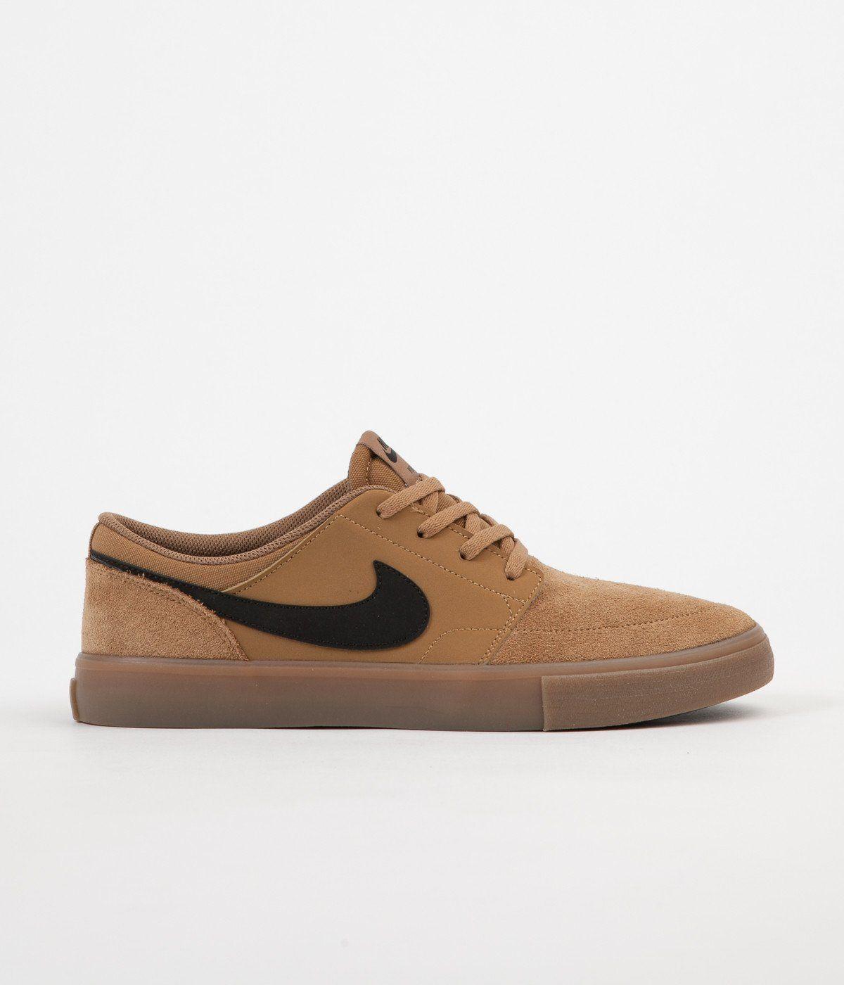 Nike SB SOLARSOFT PORTMORE II - Trainers - black/light brown/dark grey fAvqQNow