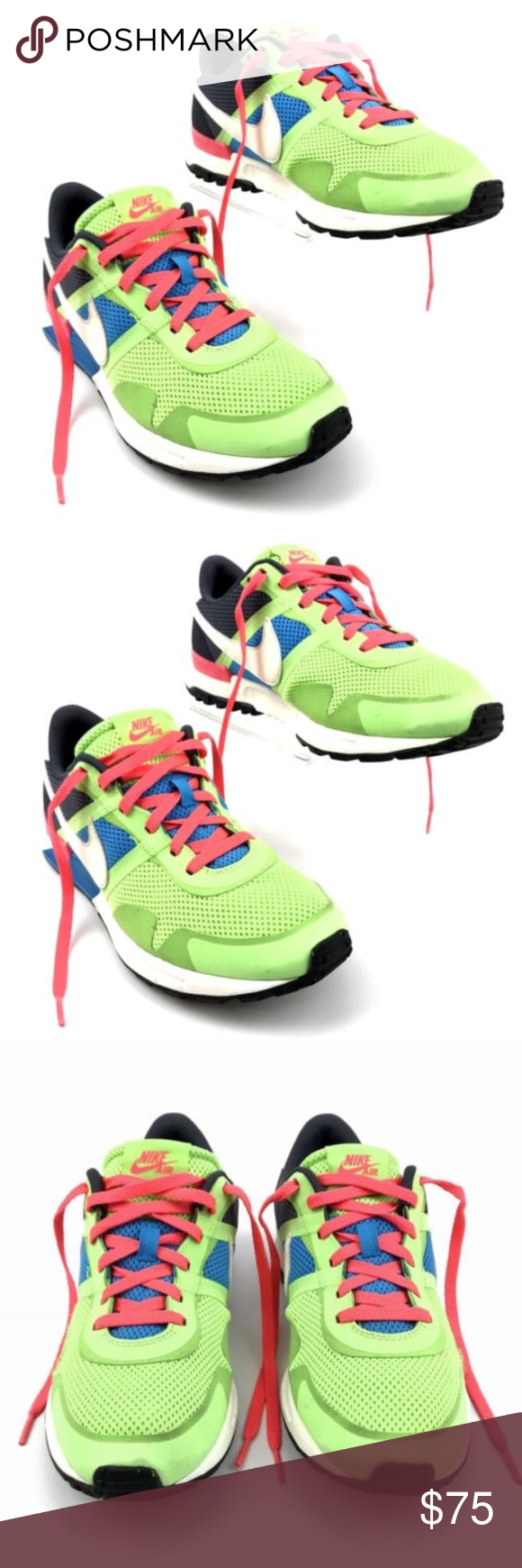 36e8586e3c5 Mens Nike Air Pegasus 83 30 Mens Nike Air Pegasus 83 30 599482-314 Flash  Lime Blue Hero Gridiron Sail Running Shoes •Size  9.5 US