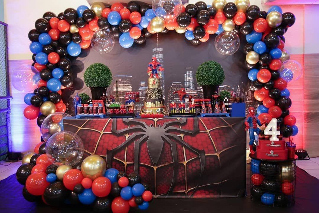Ideas Para Fiesta Temática De Spiderman Guía En Decoración Hoy Aprender Spiderman Birthday Party Spiderman Birthday Party Decorations Kids Party Decorations