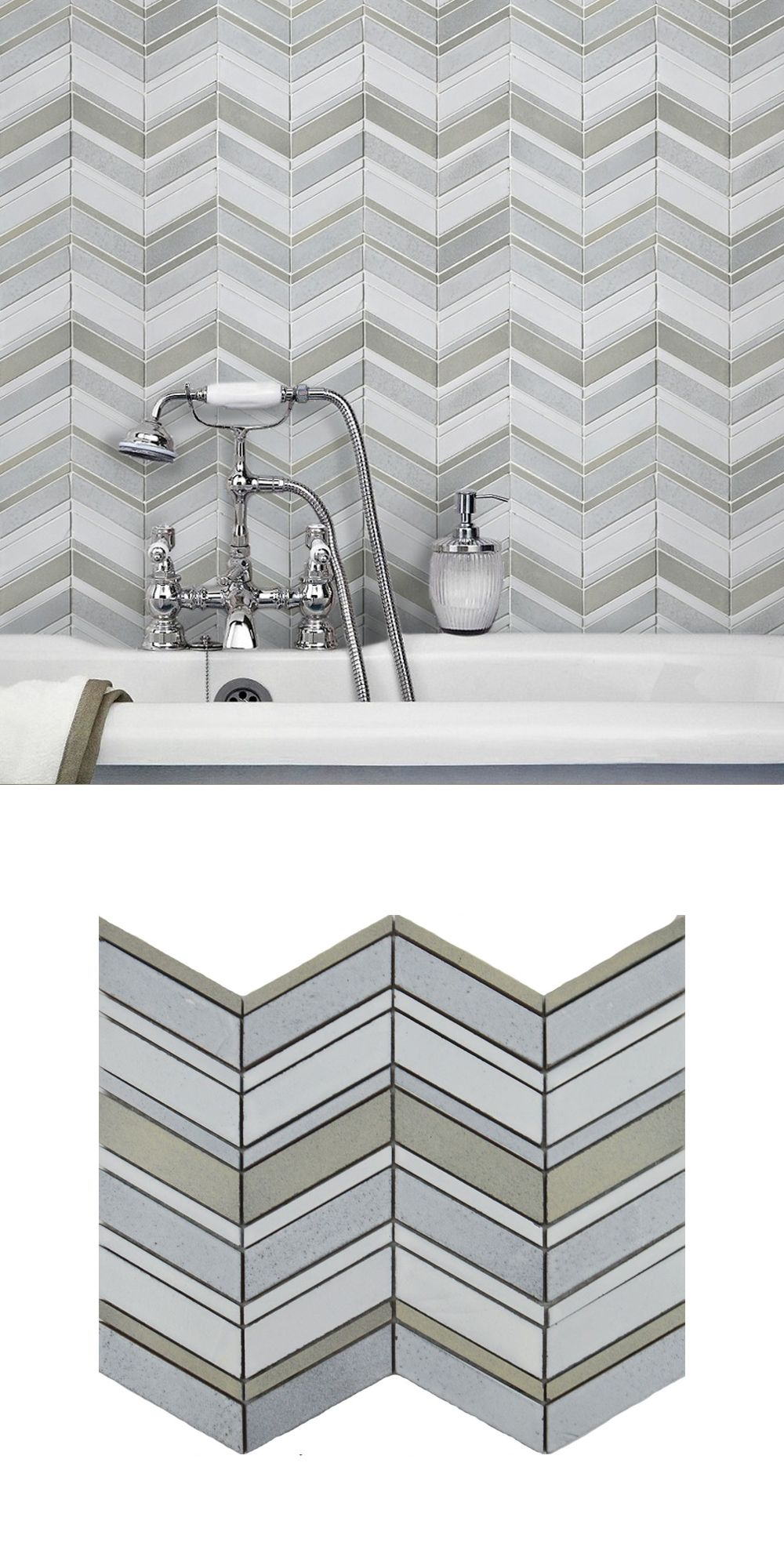 Conservatory Room Addition In The Uk 1040x1485 In 2020: Made From Glazed Basalt, These Tephra Dusted Moon Chevron Mosaic Tiles Are Perfect For Creating