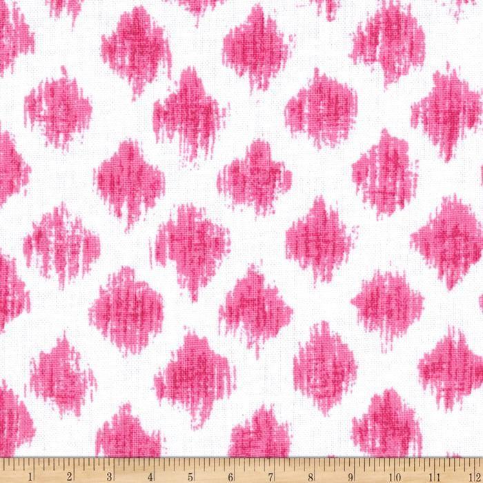 Ikat Home Decor Fabric: Kallianthi Mini Ikat Pink, Fabric .com Daniella's Curtains