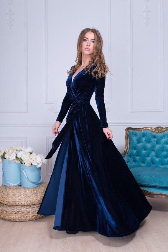 ad27ba4bf3e Navy Blue Christmas Dress