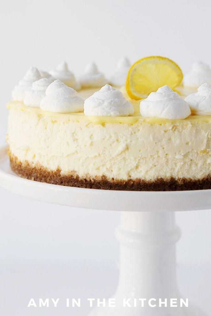 Lemon Cheesecake is the best lemon dessert Its easy to make and has a delicious lemon curd topping and whipped cream