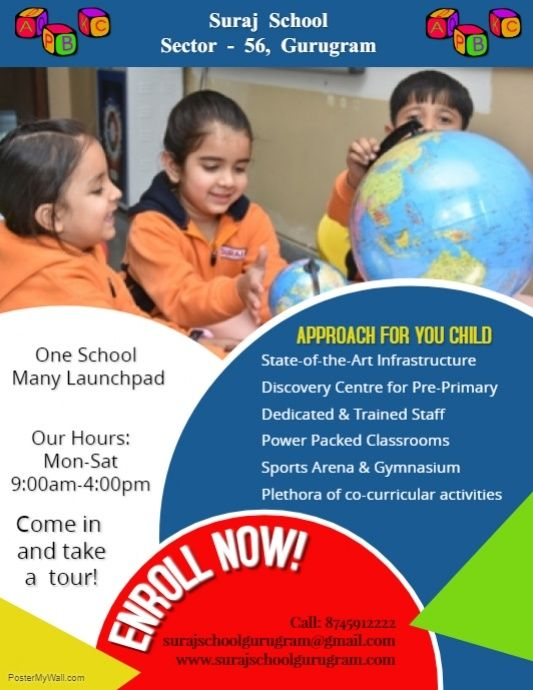 Copy of Education Flyer | School posters, Creative poster ...