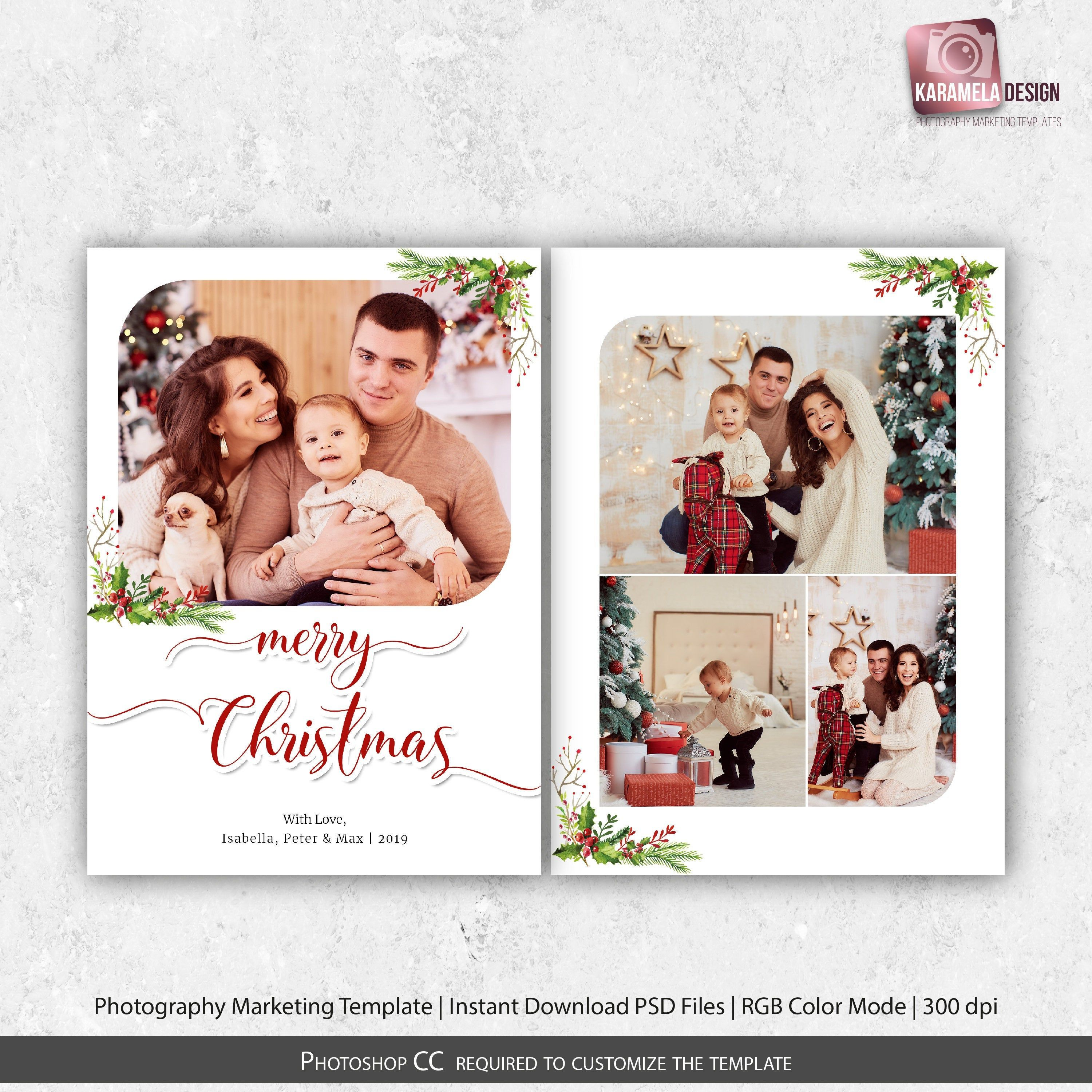 5x7 Christmas Card Template Photoshop Template Printable Greeting Card Photoshop Christmas Card Template Printable Greeting Cards Christmas Card Template