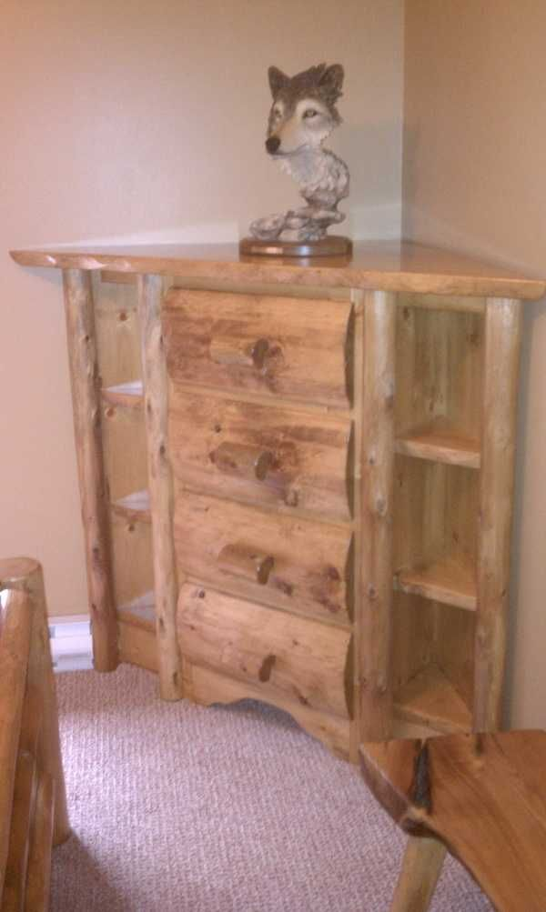 Custom Corner Dresser