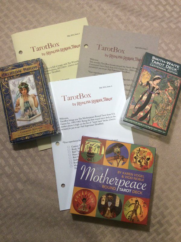 a unique tarot experience each month a tarot deck with