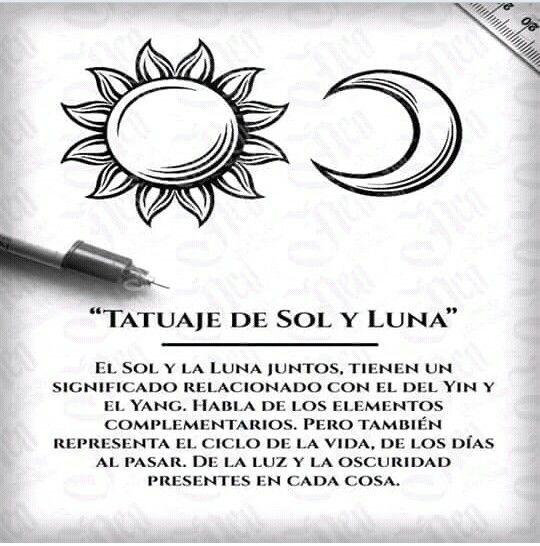 Tatuajes Tatuajes Pinterest Tatuaje Sol Y Luna Tatuajes De