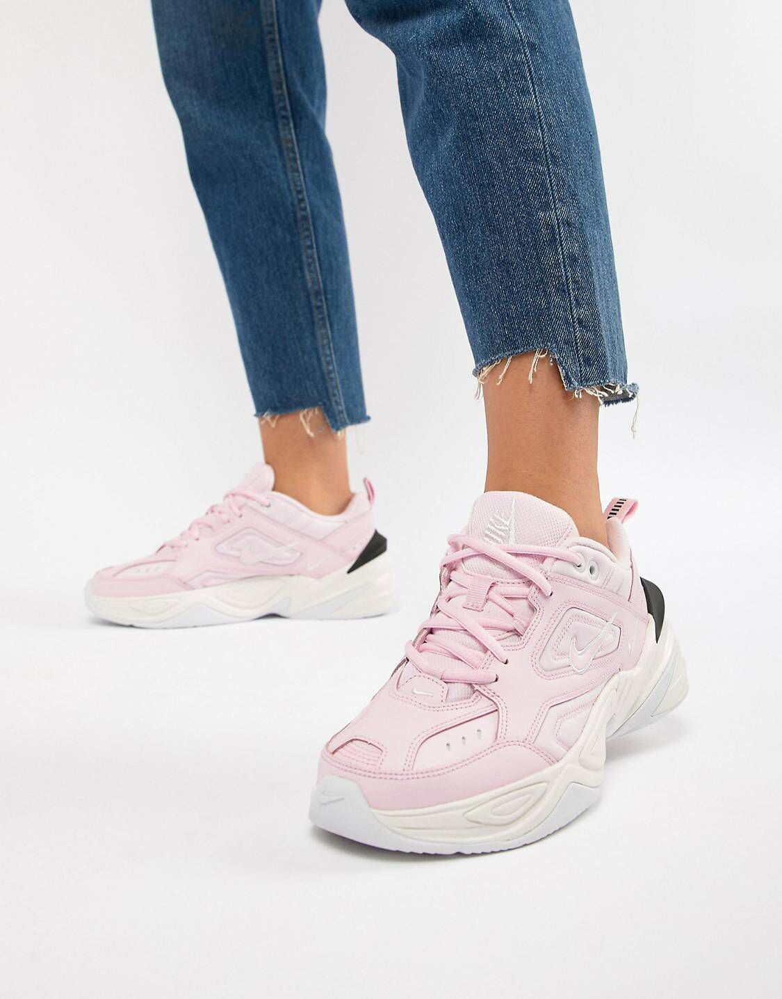 bece001ab8b354 Shop Nike Pink With Contrast Sole Tekno Trainers at ASOS. Just when I  thought I didn t need something new from ASOS