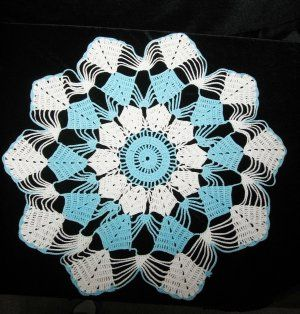 Crochet Turquoise Doily @ Vintage Touch ~ SOLD