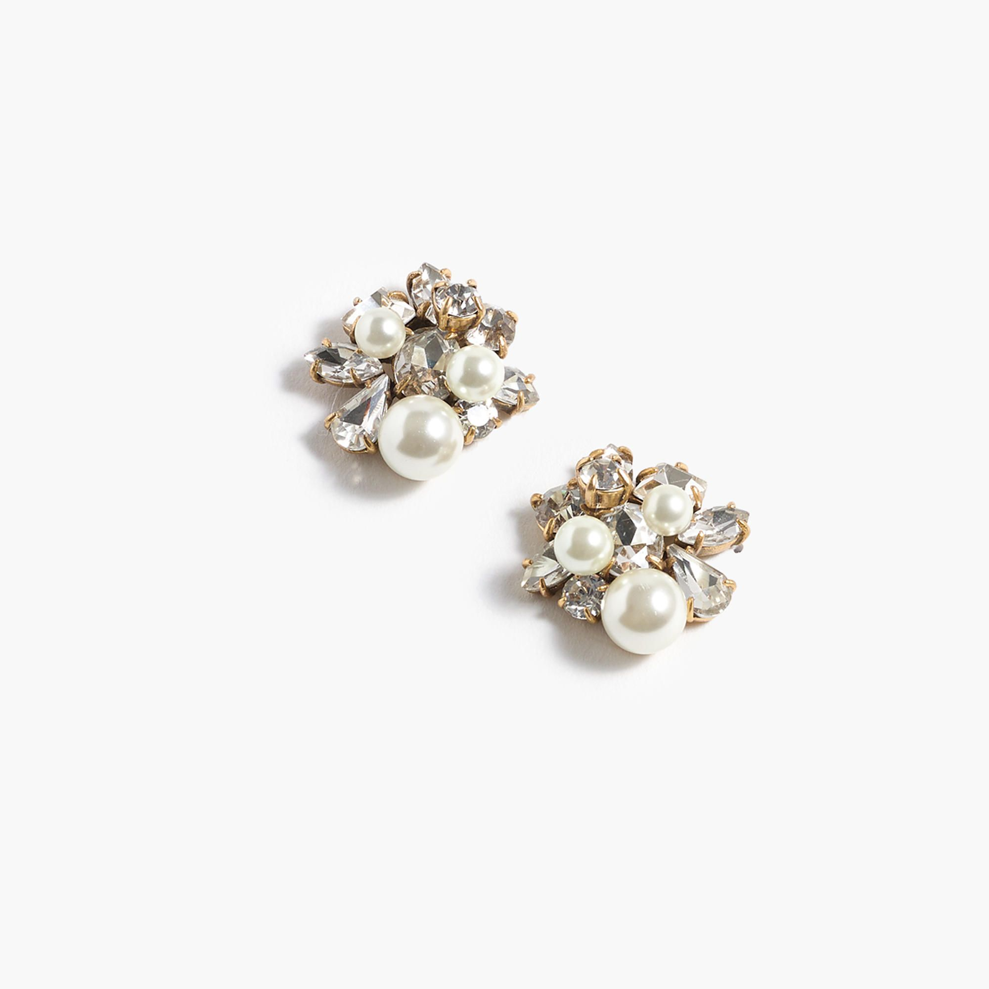 The Pearl And Crystal Earrings At Jcrew See Our Entire Selection Of Women S