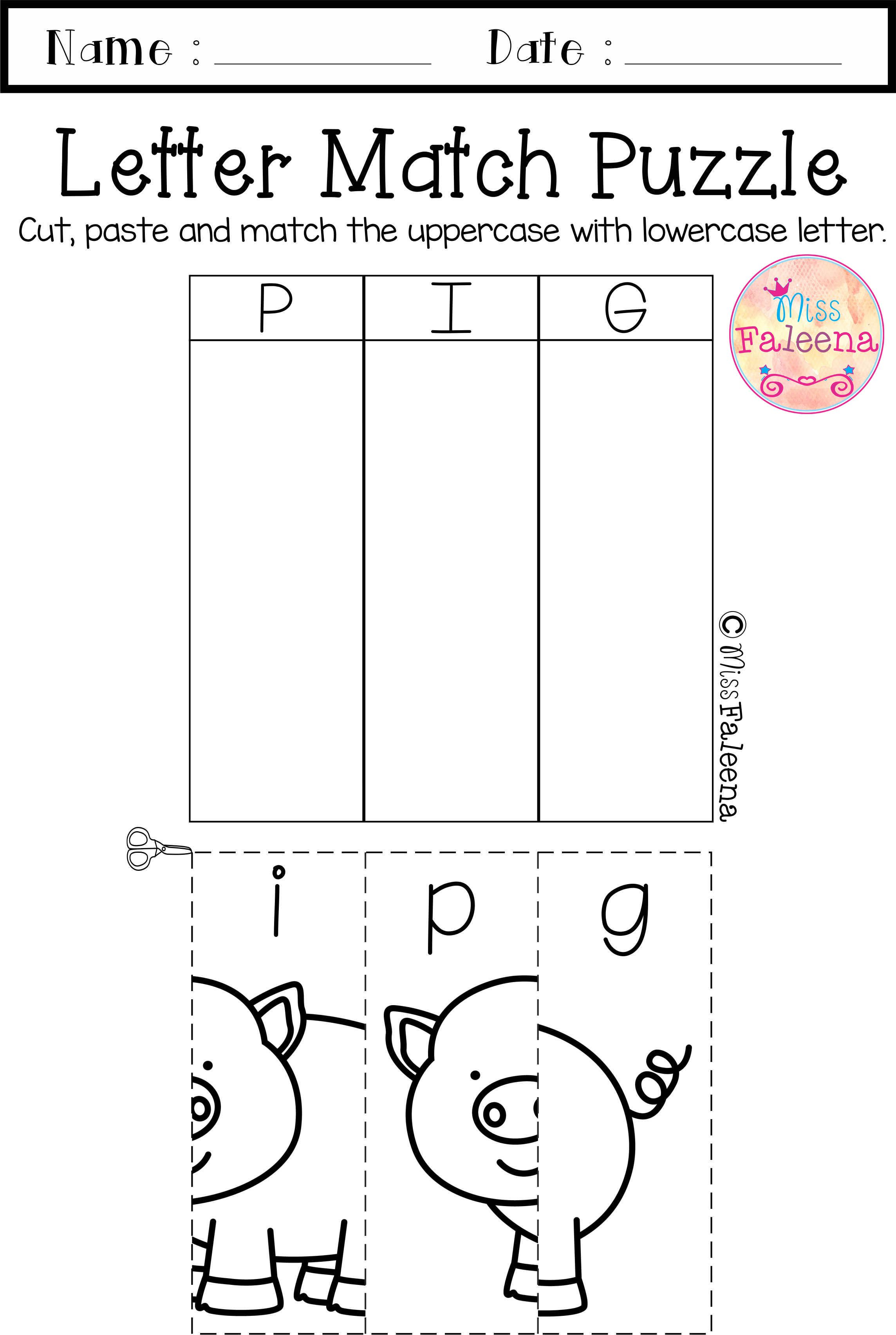 Pin On Miss Faleena S Store Cut and paste letter worksheets for
